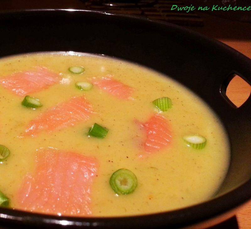 Zupa krem ziemniaczana z łososiem