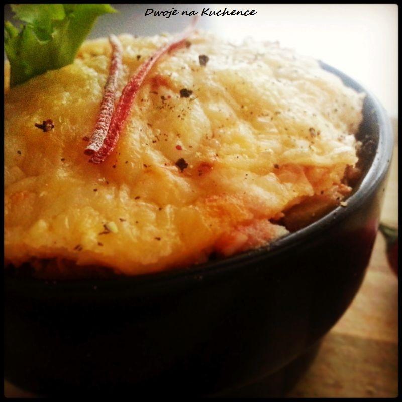 Zapiekanka z mięsem mielonym i ziemniaczanym puree
