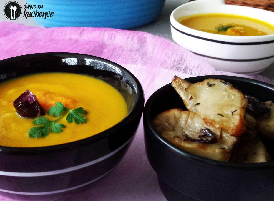 Zupa krem marchewkowo-ziemniaczana i pieczony topinambur