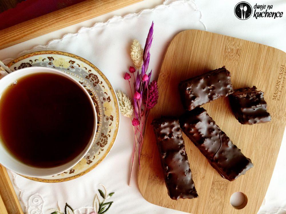 Batony musli w polewie czekoladowej