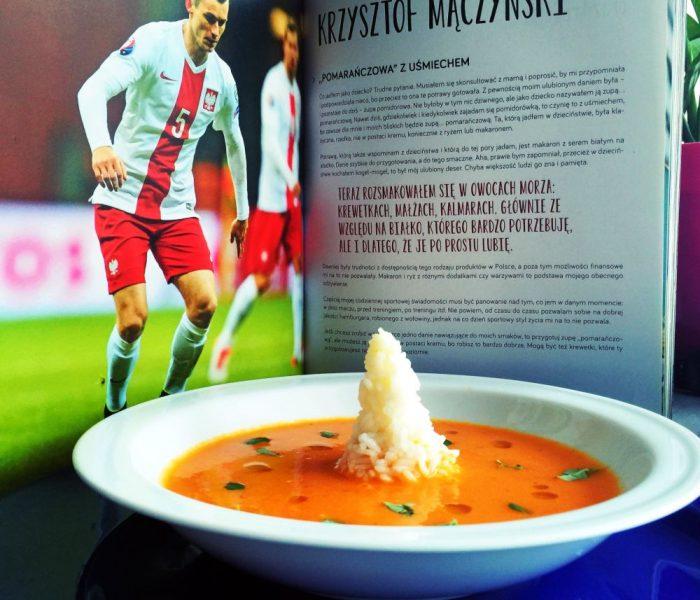 Biało-czerwoni na talerzu, Krzysztof Mączyński – kremowa zupa ze świeżych pomidorów