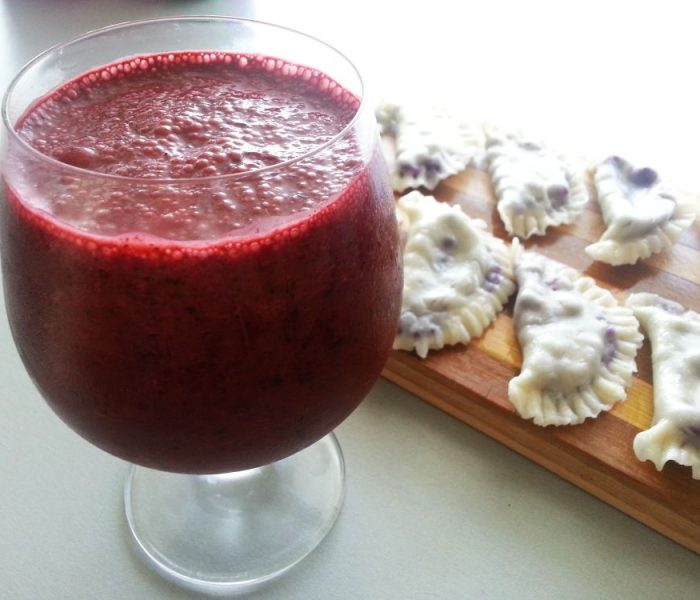 Koktajl jagodowo-malinowy