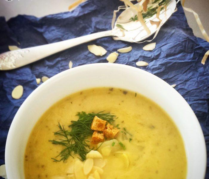 Zupa krem z porów i gruszki z miodową nutką