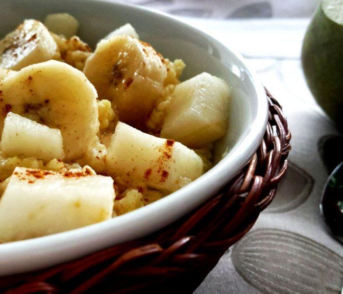 Kasza jaglana z gruszką i bananem