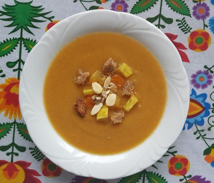 Zupa krem z cukinii i marchewki